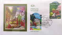 FRANCE 3895 Et 3896 FDC 1er Jour Jardins Arboretum Parc De La Vallée Aux Loups Et Pont Japonais Au Jardin Albert Kahn - FDC