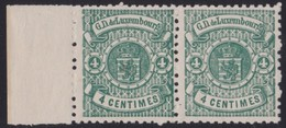 Luxembourg     .     Yvert  .    28   Paire    .     **    .          Postfris  .     /   .    MNH - 1859-1880 Wapenschild