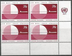UN New York - 1976 Airmail 31c Corner Block Of 4 MNH **   Sc C23 - New York - Sede De La Organización De Las NU