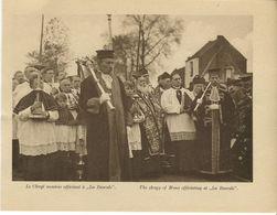 Mons Inauguration Du Monument Irlandais à La Bascule Le 11/11/1923 Le Clergé Montois Officiant - War 1914-18