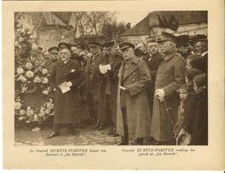 Mons Inauguration Du Monument Irlandais à La Bascule Le 11/11/1923 Le Général Burtin-Forster Lisant Son Discours - War 1914-18
