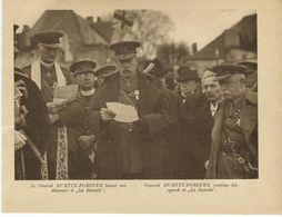Mons Inauguration Du Monument Irlandais à La Bascule Le 11/11/1923 Le Général Burtin-Forster Lisant Son Discours (2) - War 1914-18