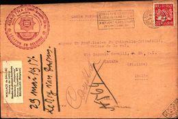 87081) Belgio Cartolina Con  2,50 F.agricoltura Da Bruxelles A Catania  Il 29/5/1951 Bollo Massone - Francia