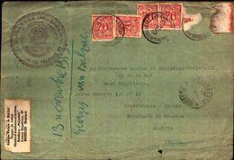 87083) Belgio Cartolina Con 4x20c. Da Bruxelles A Catania  Il 13/11/1953 Bollo Massone - Francia