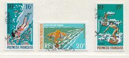 POLYNESIE  ( DT - 386 )   1971  N° YVERT ET TELLIER  N° 48/50 - Oblitérés