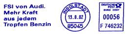 Freistempel 0630 FSI Von Audi Mehr Kraft Aus Jedem Tropfen Benzin - Poststempel - Freistempel