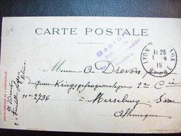 G088 Carte En FM De 1915 - Marcofilia (sobres)