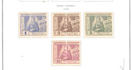 Paraguay PA 1954 Queen Isabella Ia Scott.C197/200 Nuovo  See Scans On Scott.Pages - Paraguay