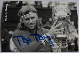Carte Postale - Björn BORG - Dédicace - Hand Signed - Autographe Authentique  - - Tennis