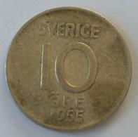 Suède - 10 Ore 1955 - - Suède