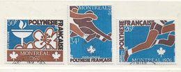 POLYNESIE  ( DT - 416 )   1976  N° YVERT ET TELLIER  N° 110/112 - Oblitérés
