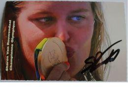 Carte Postale - Sharon Van ROUWENDAAL - Dédicace - Hand Signed - Autographe Authentique  - - Natation