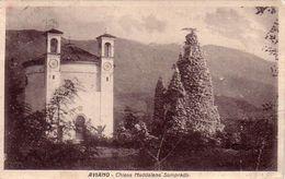 AVIANO-UDINE-CHIESA MADDALENA SOMPRADO-CARTOLINA VIAGGIATA IL 10-11-1935 - Udine