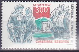 Timbre-poste Neuf** - Corsaires Basques Fort De Socoa La Rhune - N° 3103 (Yvert) - France 1997 - Frankreich