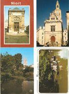 CPM 79 NIORT LOT DE 4 MUSEE PILORI HISTOIRE NATURELLE HOTEL DE VILLE MARAIS VEVRE EGLISE ST ANDRE LA GARETTE ETC.... - Niort
