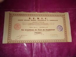 S.E.M.I.C. Etudes Minieres (1930) MARSEILLE - Shareholdings