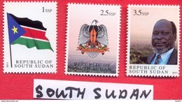 SOUTH SUDAN = MNH Complete 1st Set South Sudan, Including The Withdrawn 2.5 SSP = SOUDAN Du Sud Südsudan - South Sudan
