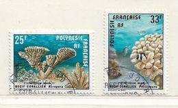 POLYNESIE  ( DT - 432 )   1977  N° YVERT ET TELLIER  N° 121/122 - Oblitérés