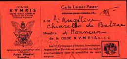 87152) Belgio Tessera D'iscrizione Alla Gilde -kvmris-secretariat General Scout Du Cygne - Religione & Esoterismo