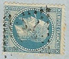 N°29 Avec Variété Sur Lettre-Cachet Ajaccio Corse - 1863-1870 Napoleon III With Laurels
