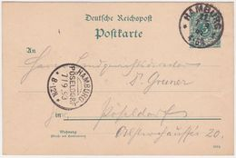 GERMANY 1893 (7.9.) P.ST.CARD P 30 HAMBURG 11 (Cosmopalitan Hotel, Hand Drawing) TO H.-PÖSELDORF - Otros