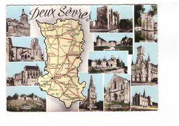 79 Deux Sevres Carte Géographique Du Département CPSM GF Airvault Thouars Bressuire Niort Melle Cerizay - France