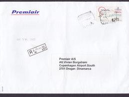 Spain PREMIAIR Registered Certificado Label TENERIFE 2001 Cover Letra ATM / Frama - Poststempel - Freistempel