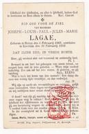 DP Joseph Louis P. Lagae 25j. ° Heule 1868 † Kortrijk 1893 / Laga - Devotion Images