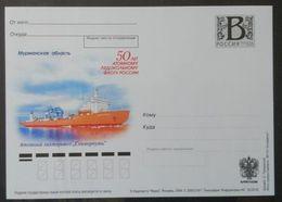 """Russia 2009. 50th Anniversary Of Russia's Nuclear Icebreaker Fleet. """"Sevmorput"""". Tariff B Postcard, Mint - 1992-.... Fédération"""