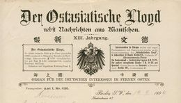 Allemagne - Berlin - Entête Du 19 Septembre 1899 - Der Ostasiatische Lloyd - Nebft Nachrichten Aus Kiautfchou. - Germany