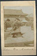 CHINA 1900 PC- PEKING REAL PHOTO- LAMA PRIEST DANCING IN LAMA TEMPLE - Chine