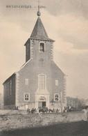 Fontaine -L'Evêque  Eglise Animée - Recto Belle Frappe Relais Fontaine-L'evêque 1910 - Awans