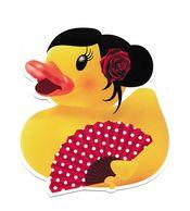 "RAVISSANTE CARTE CANARD ""MADAME CANARD ET SON EVENTAIL"" - Perfume Cards"