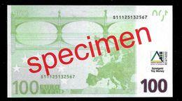 "Educativ Test ""AKTIV, Type 3 A"" 100 Euro, Billet Scolaire, Matt, Size 130 X 72 Mm, RRR, UNC, Beids. Druck, Serie 28 - EURO"