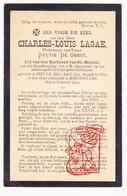 DP Charles Louis Lagae ° Heule Kortrijk 1812 † Roeselare 1901 X Sylvie De Geest / Laga - Devotion Images
