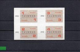 LITUANIA 1992, 10 TALONAS, P-C007, SC-UNC, 2 ESCANER - Lithuania