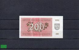 LITUANIA 1992, 200 TALONAS, P-43a, SC-UNC, 2 ESCANER - Lithuania