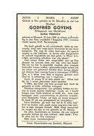 926. GODFRIED  GOYENS Echtg. E. Venken - °MAASEIK 1900 En Aldaar + 1945 - Andachtsbilder