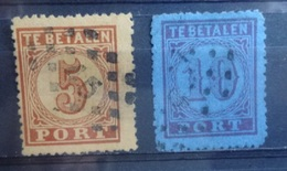 NEDERLAND  Portzegels  1870   P 1 - 2     Gestempeld  CW  35,00 - Postage Due