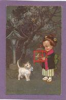 COLOMBO / Petite Fille Japonaise / Cage Et Oiseau / Chat Blanc. - Colombo, E.
