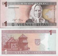 Lithuania 1994 - 1 Litas - Pick 53a UNC - Lithuania