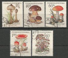 CSR 1958-1101-5 MUSROOMS, CZECHOSLOWAKIA, 1 X 5v, Used - Pilze