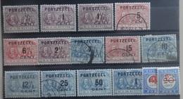 NEDERLAND  Portzegels  1907     P 31 - 43 /  P 29 - 30    Gestempeld  CW  193,00 - Postage Due