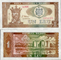 Moldova 1992 - 1 Leu - Pick 5 UNC - Moldova