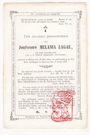 DP Melania Lagae ° Heule Kortrijk 1814 † Brugge 1871 / Laga - Devotion Images