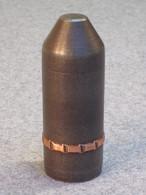 Boulet D'essai 37mm, Ogive Acier Pour Test De Pression Des Canons, France WW1. - 1914-18