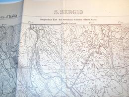 ISTRIA CROAZIA CARTA GIOGRAFICA DETTAGLIATA LOCALITA' SAN SERGIO POLA ISTITUTO GEOGRAFICO MILITARE 1926 - Historische Dokumente