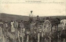 REPRODUCTION CARTE ANCIENNE - H11 - CARTES D'AUTREFOIS - CHAMPAGNE - SULFATAGE DES VIGNES - Champagne-Ardenne