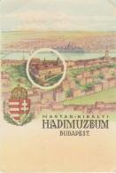Cartolina Ungheria 1920 Budapest Hadimuzeum - Hongrie