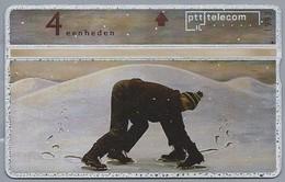 NL.- Telefoonkaart. PTT Telecom. 4 Eenheden. Schaatsen. 309B - Sport